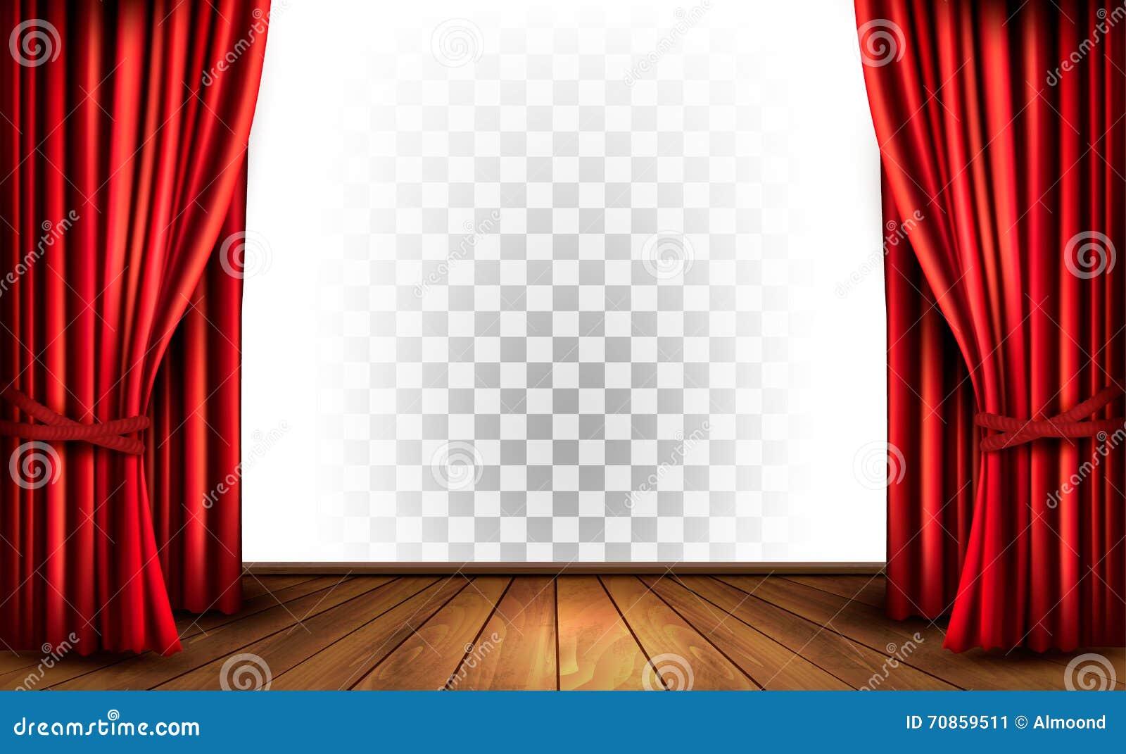 Cortinas del teatro con un fondo transparente ilustraci n - Cortinas para pasillos ...