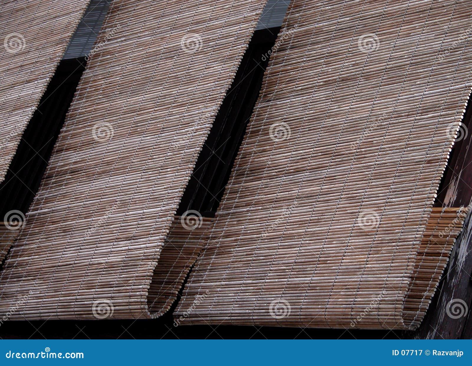 Cortinas do bambu de Gion