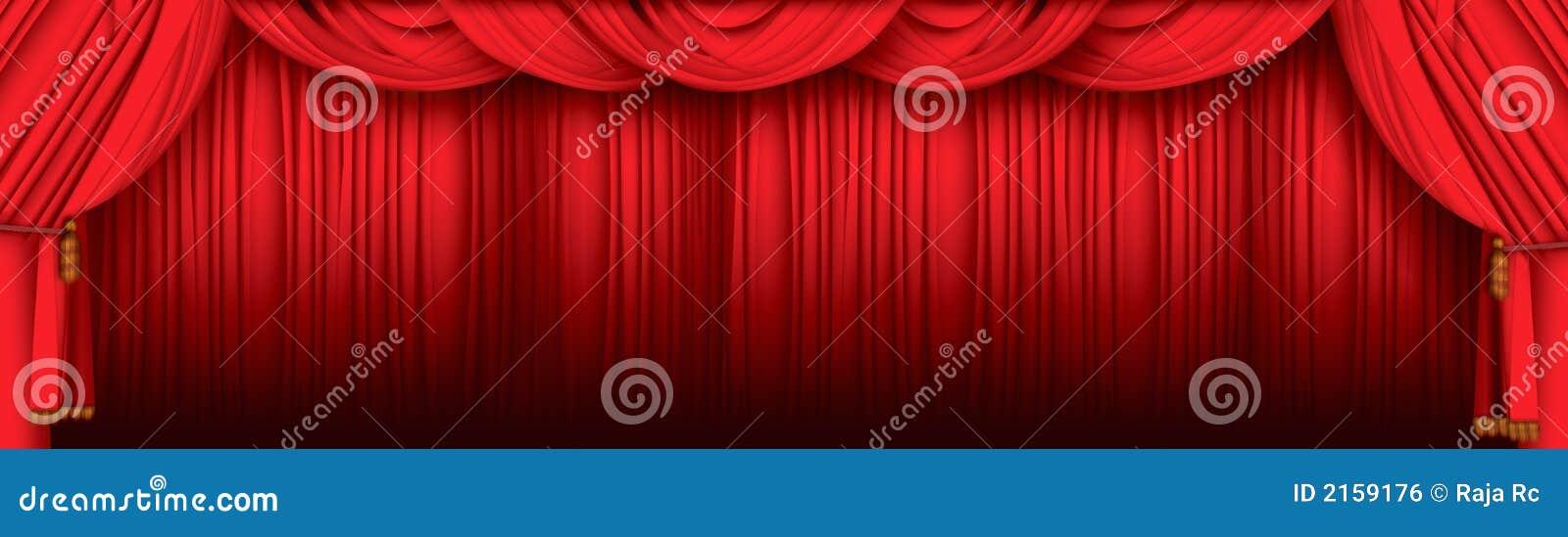 Cortinas Do Teatro Ilustração Stock. Ilustração De Filme