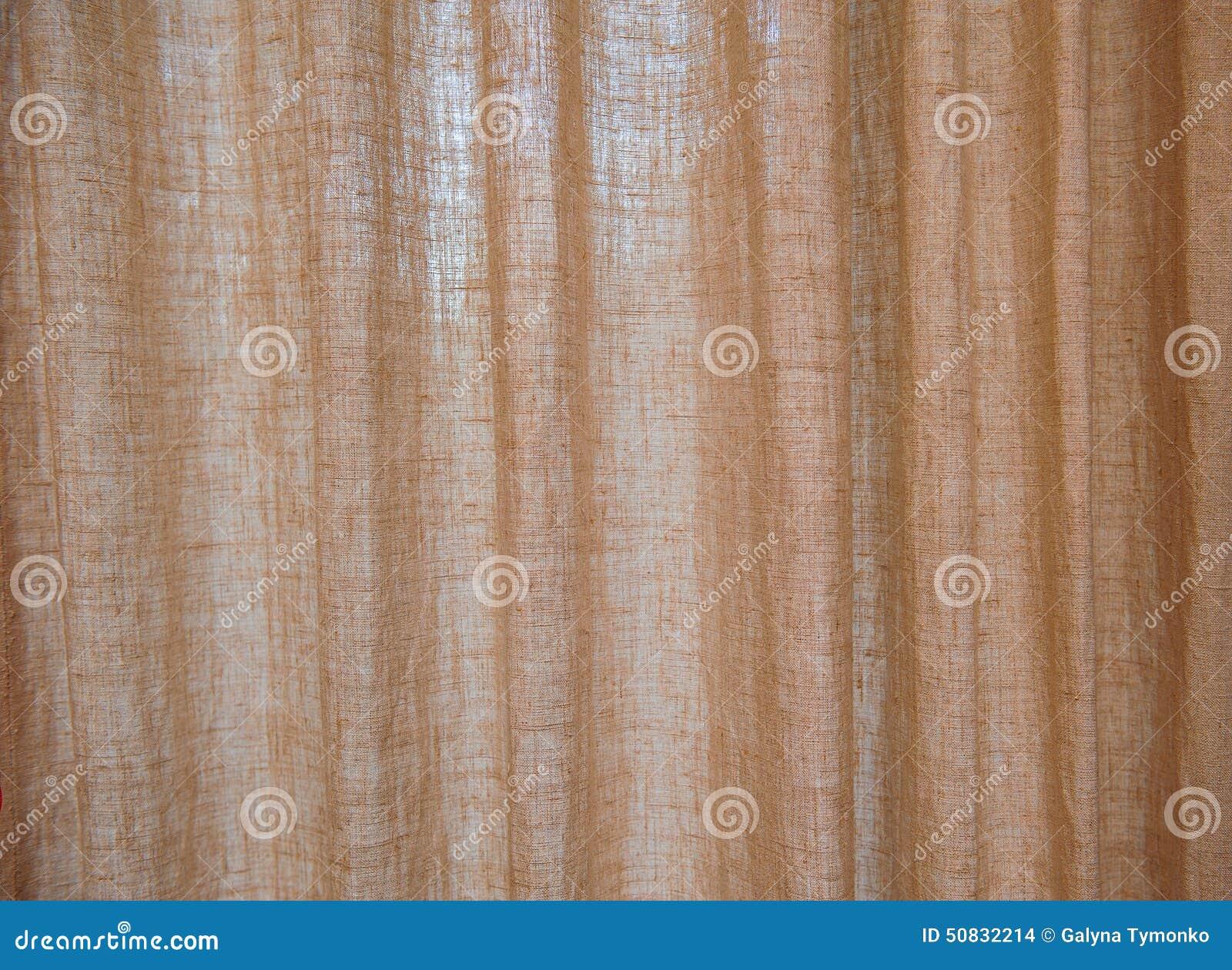 Cortinas marrones de la arpillera de la textura foto de - Cortinas de arpillera ...