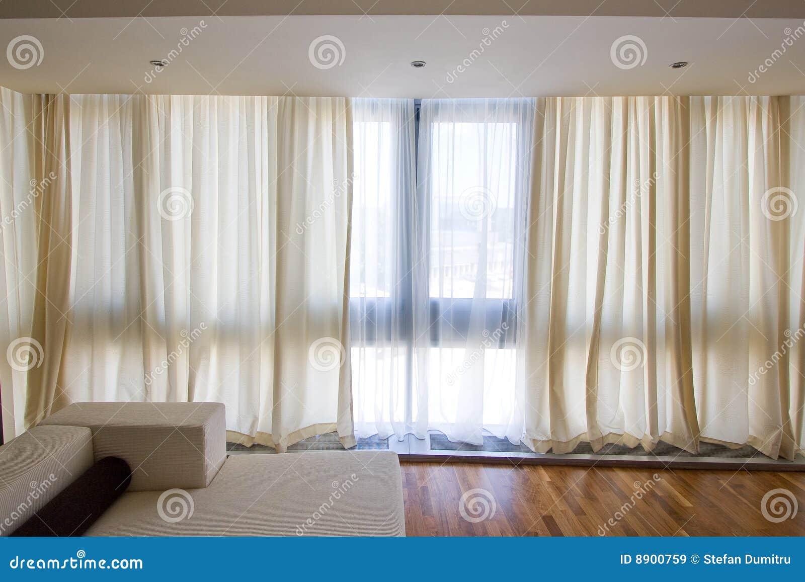 cortinas transparentes imagens de stock royalty free