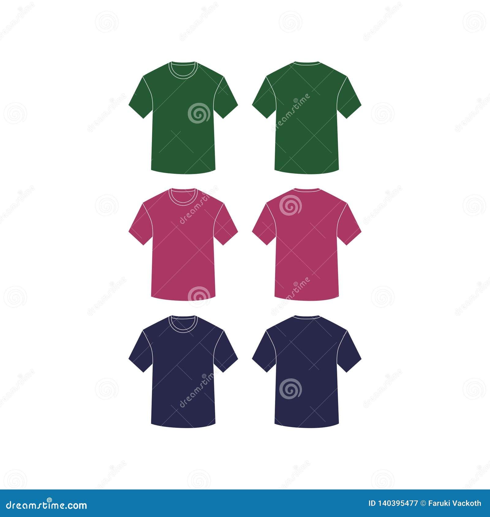 Cortocircuito llano del vector de las camisas de la maqueta