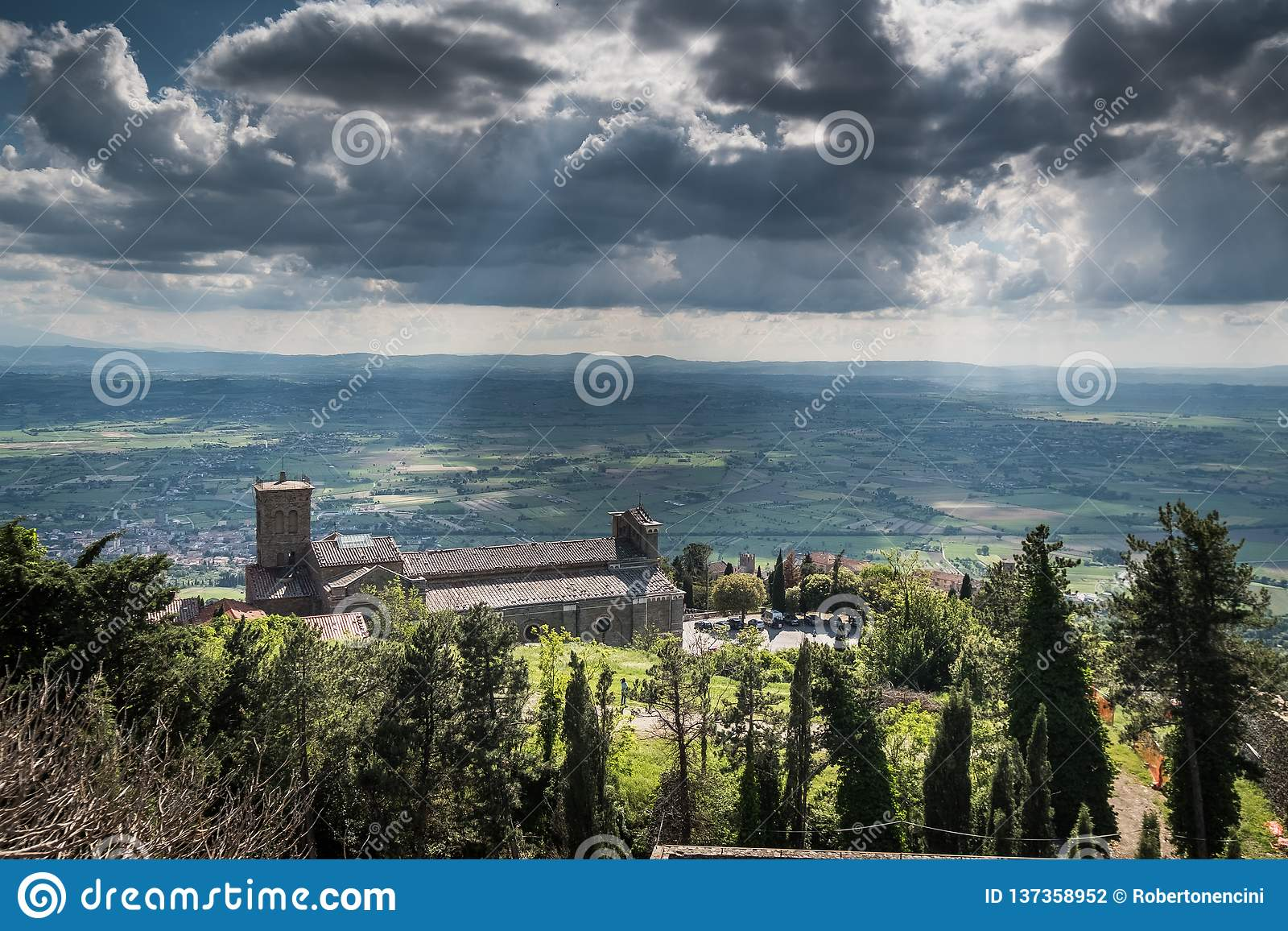 Cortona, Arezzo Tuscany, Włochy, -