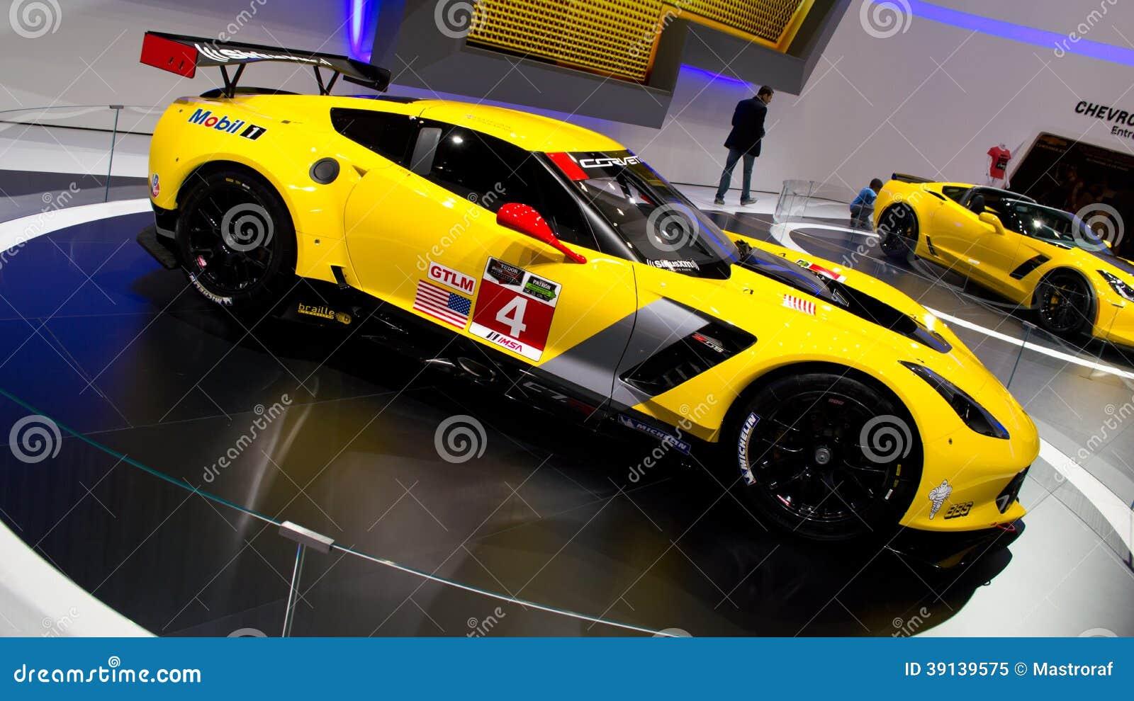 Corvette c7r geneva 2014 editorial image image 39139575 - Salon de lauto geneve ...