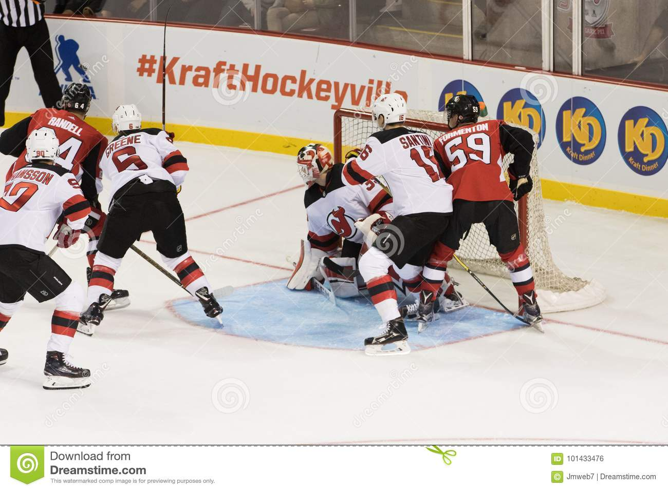 best sneakers 33366 d3b6c Cory Schneider Of The NHL`s New Jersey Devils Watches The ...