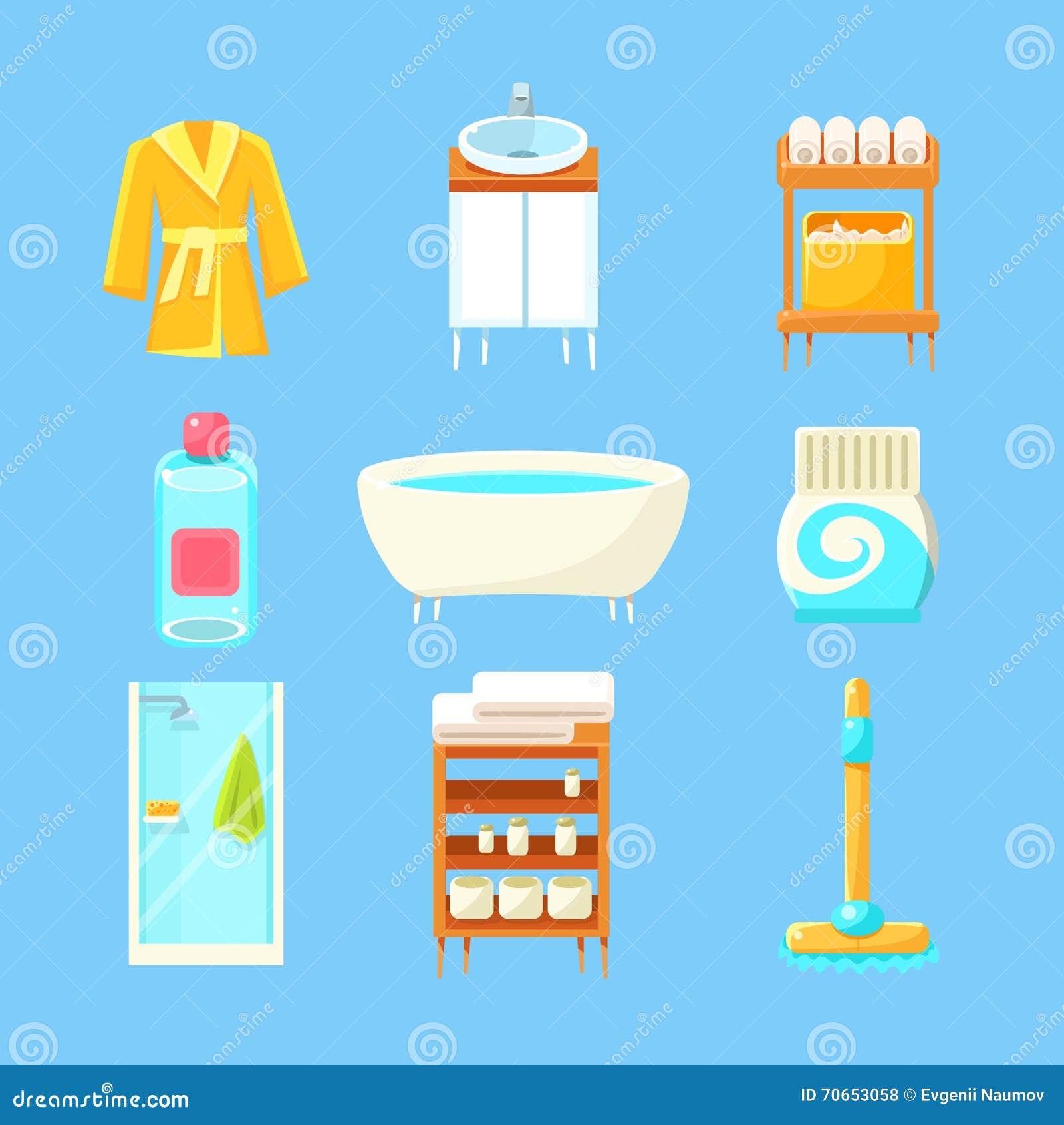Cosas del cuarto de baño fijadas