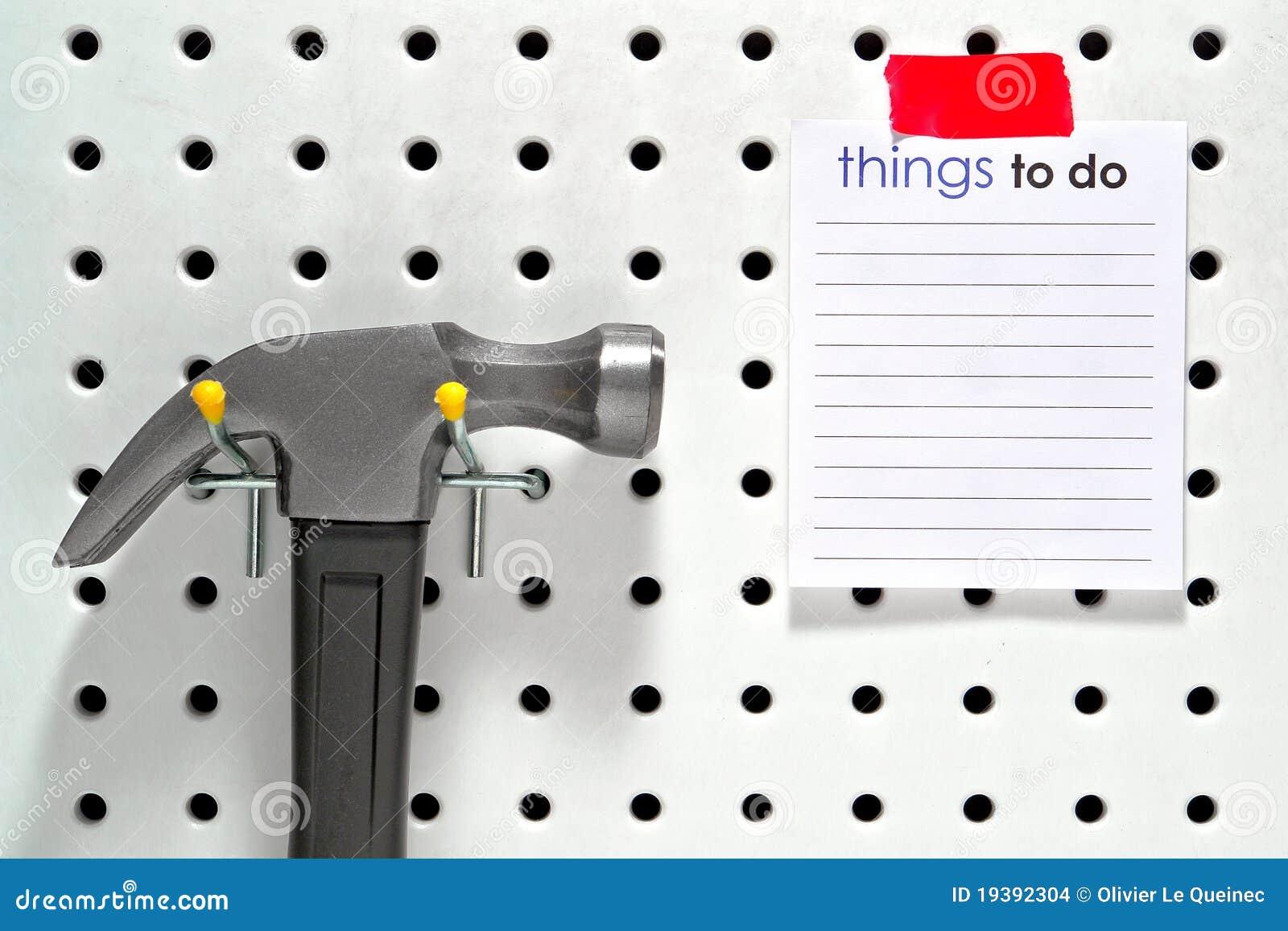 Cose per fare lista e martello