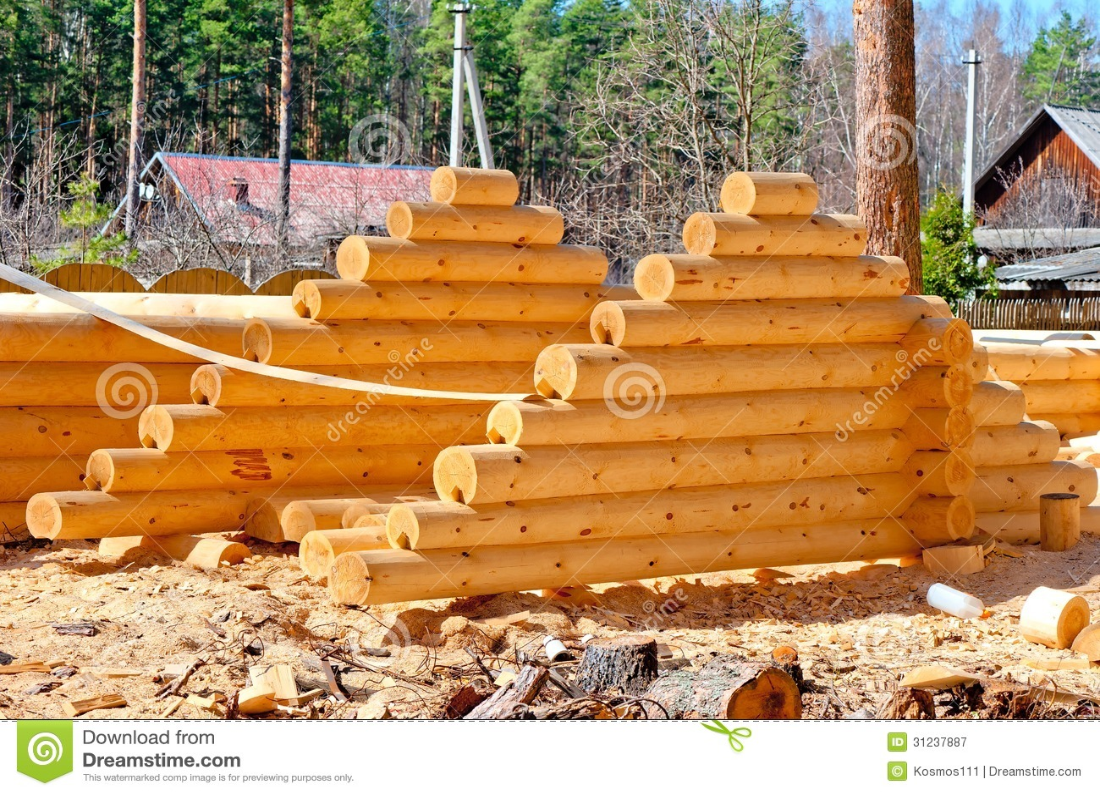 Cosecha del tejado para las caba as de madera de la madera - Cabanas de madera los pinos ...