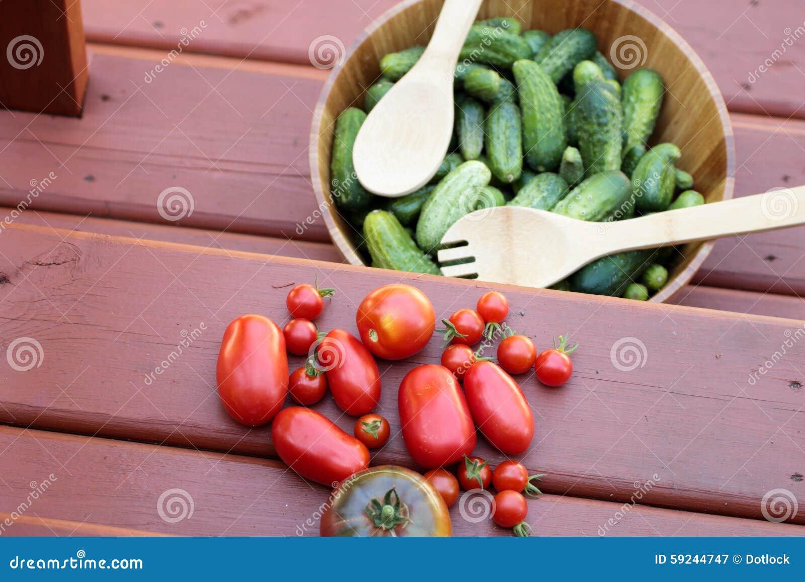 Download Cosechas Rústicas De Tomates Y De Pepinos Imagen de archivo - Imagen de rojo, outdoors: 59244747
