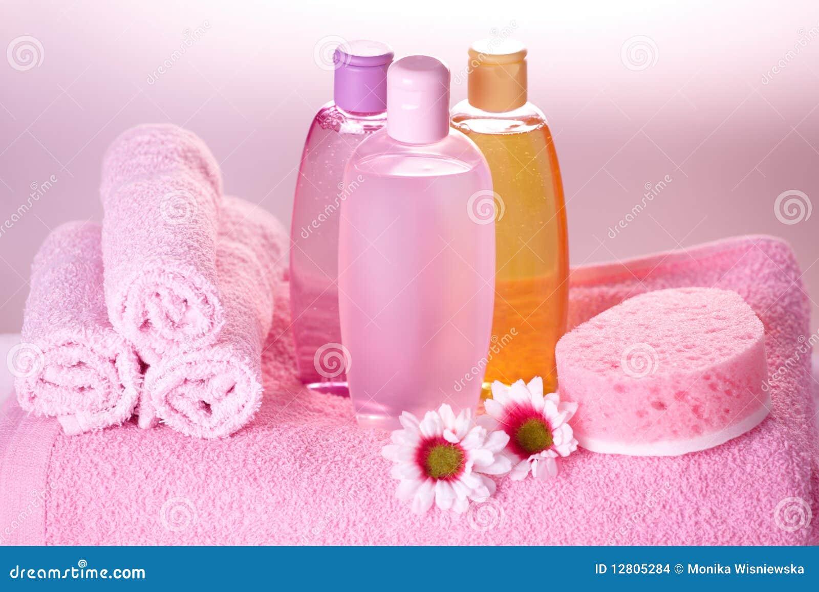 Cosméticos do cuidado do banho