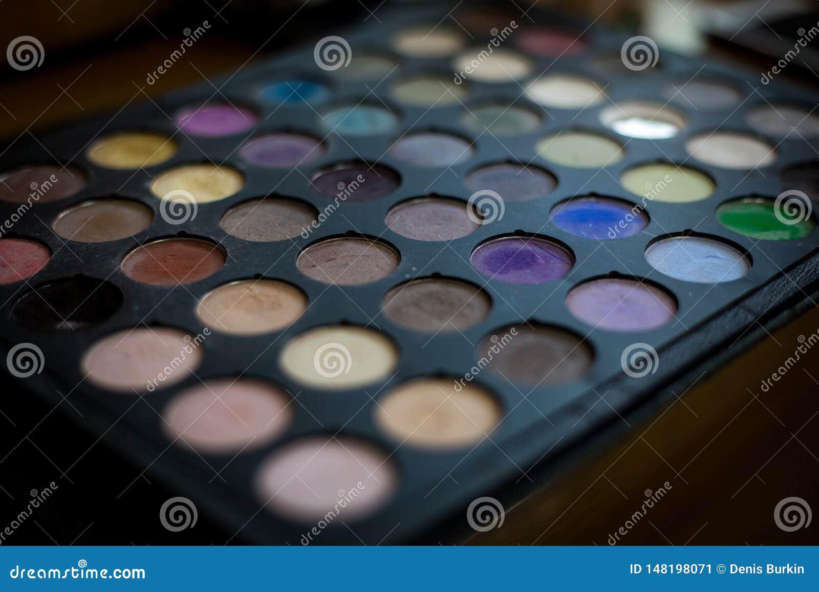 Cosméticos profesionales de la paleta colorida de las sombras de ojos para la creación del maquillaje moderno Paleta multicolora