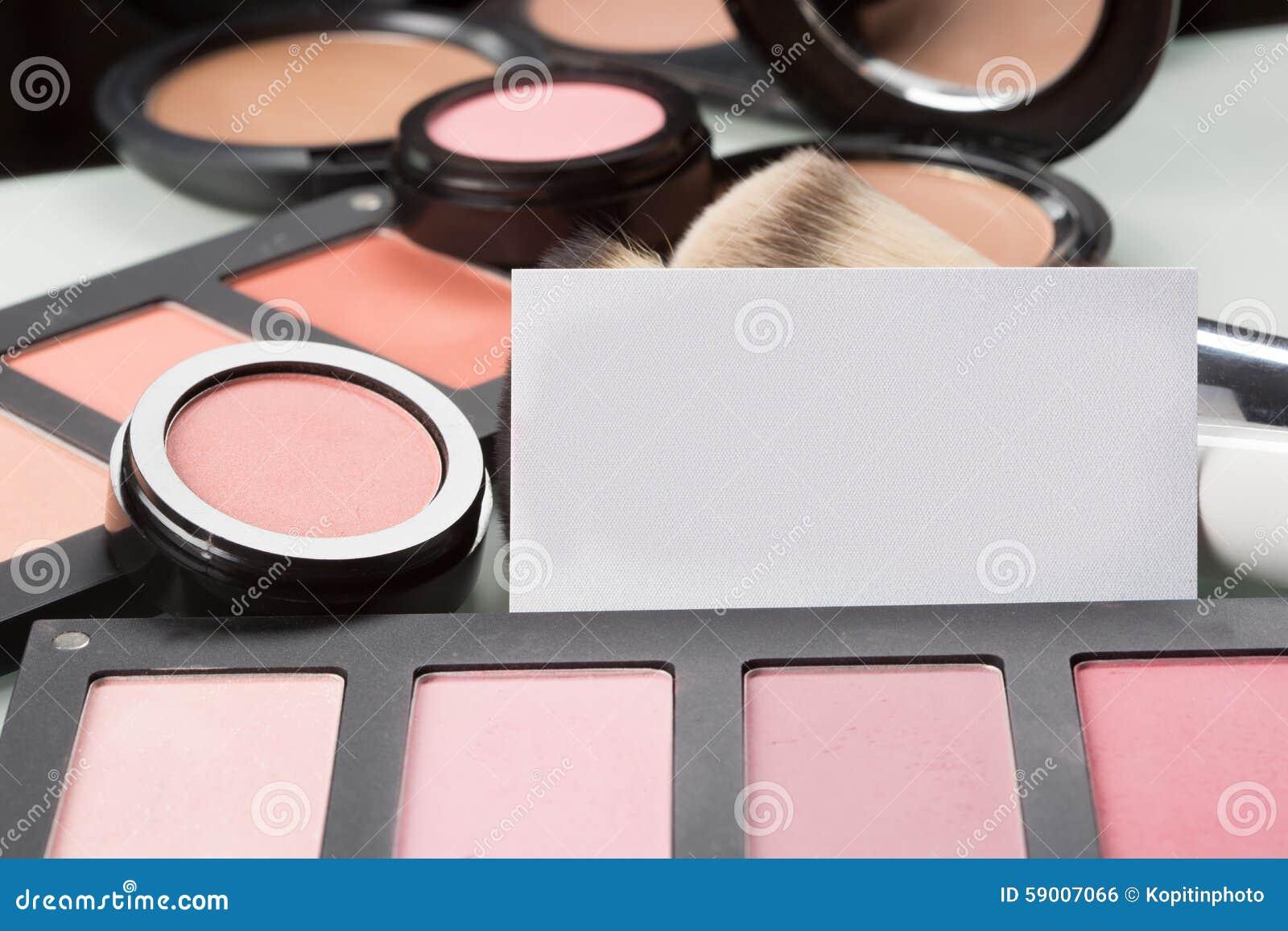 Beaux Cosmtiques De Maquillage Pour Les Yeux Et La Carte Visite Professionnelle