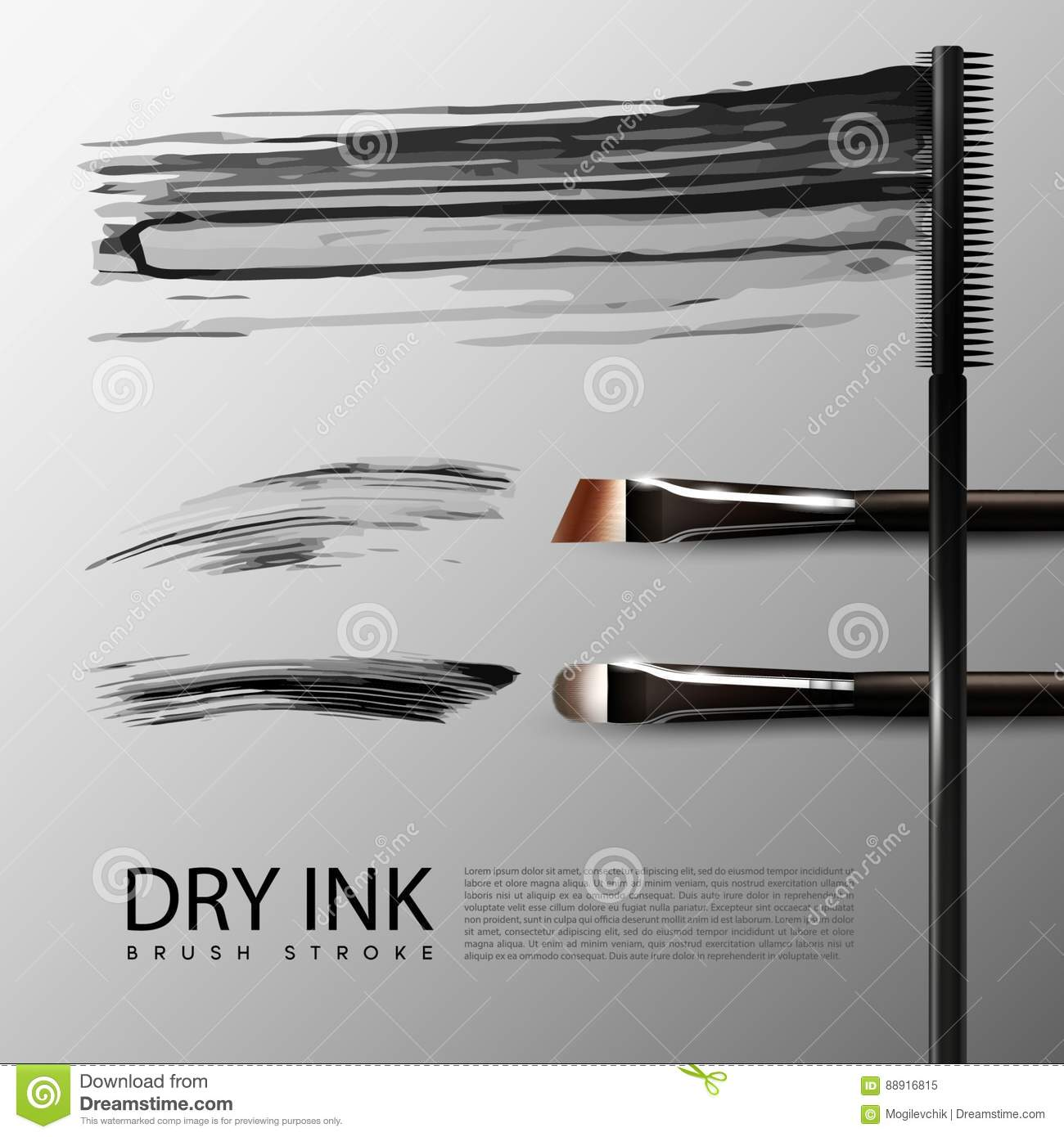 cosmetic accessories realistic set stock vector illustration of