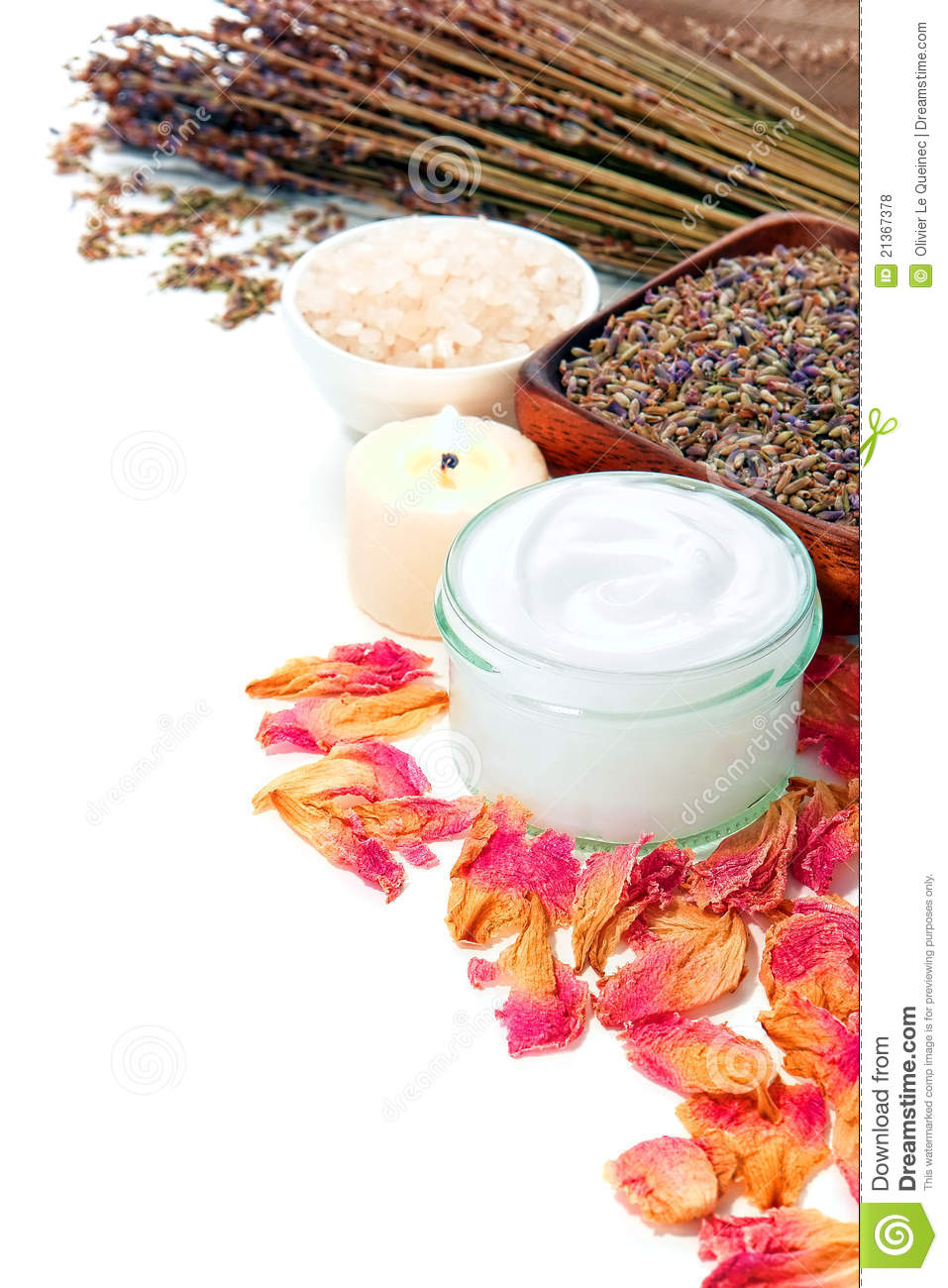 Cosmetic Facial Skin Care in Glass Jar in a Spa