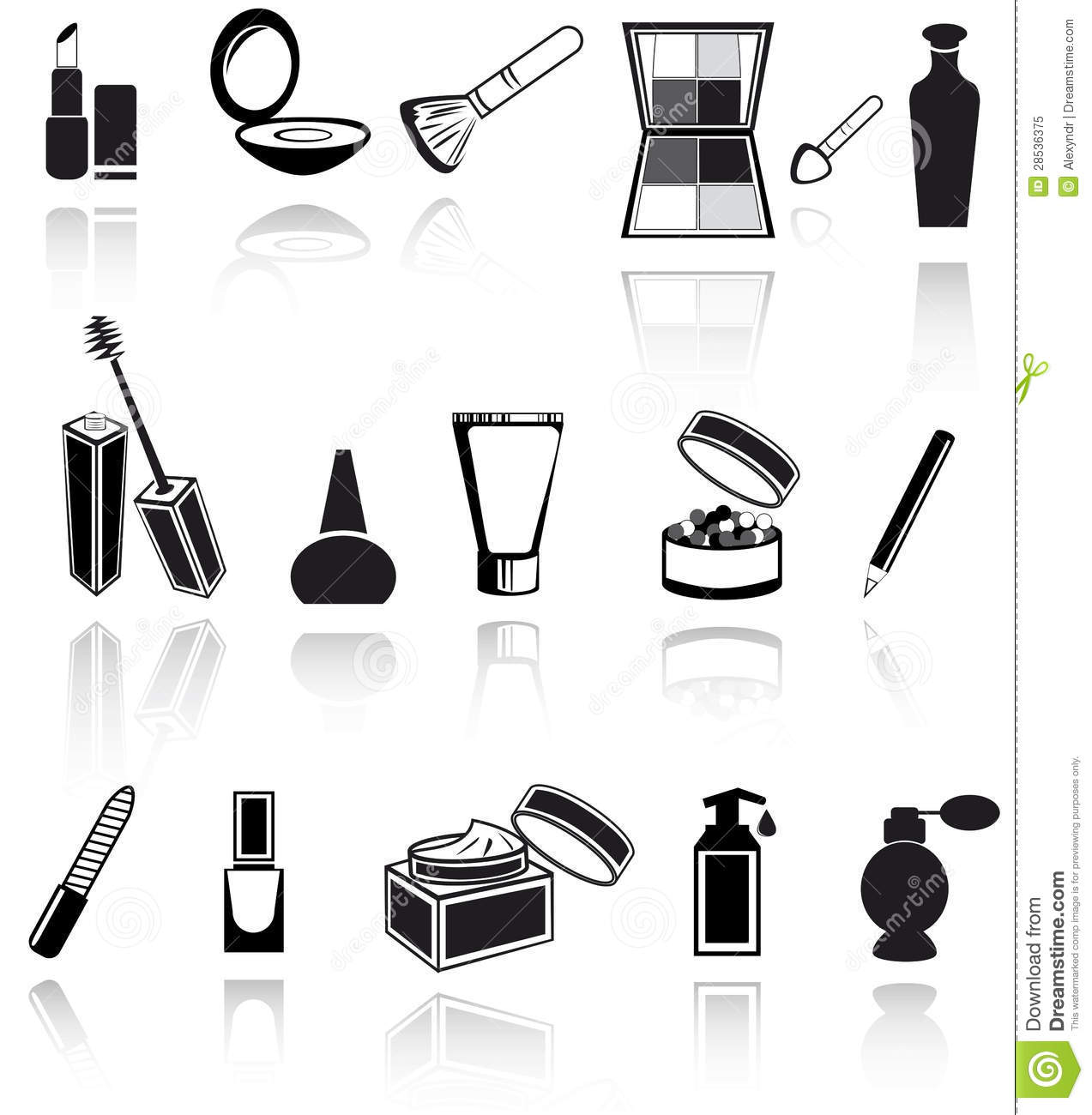 Cosmetic Make Up Icons Stock Vector Image Of Makeup