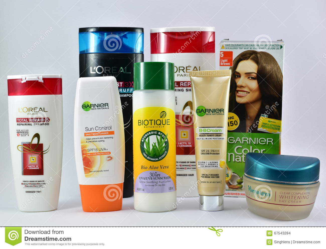 Cosmetic Products For Skin And Hair Care From Global ...