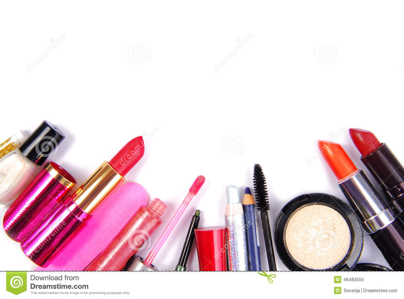 cosmetic set isoalted stock image image of accessory