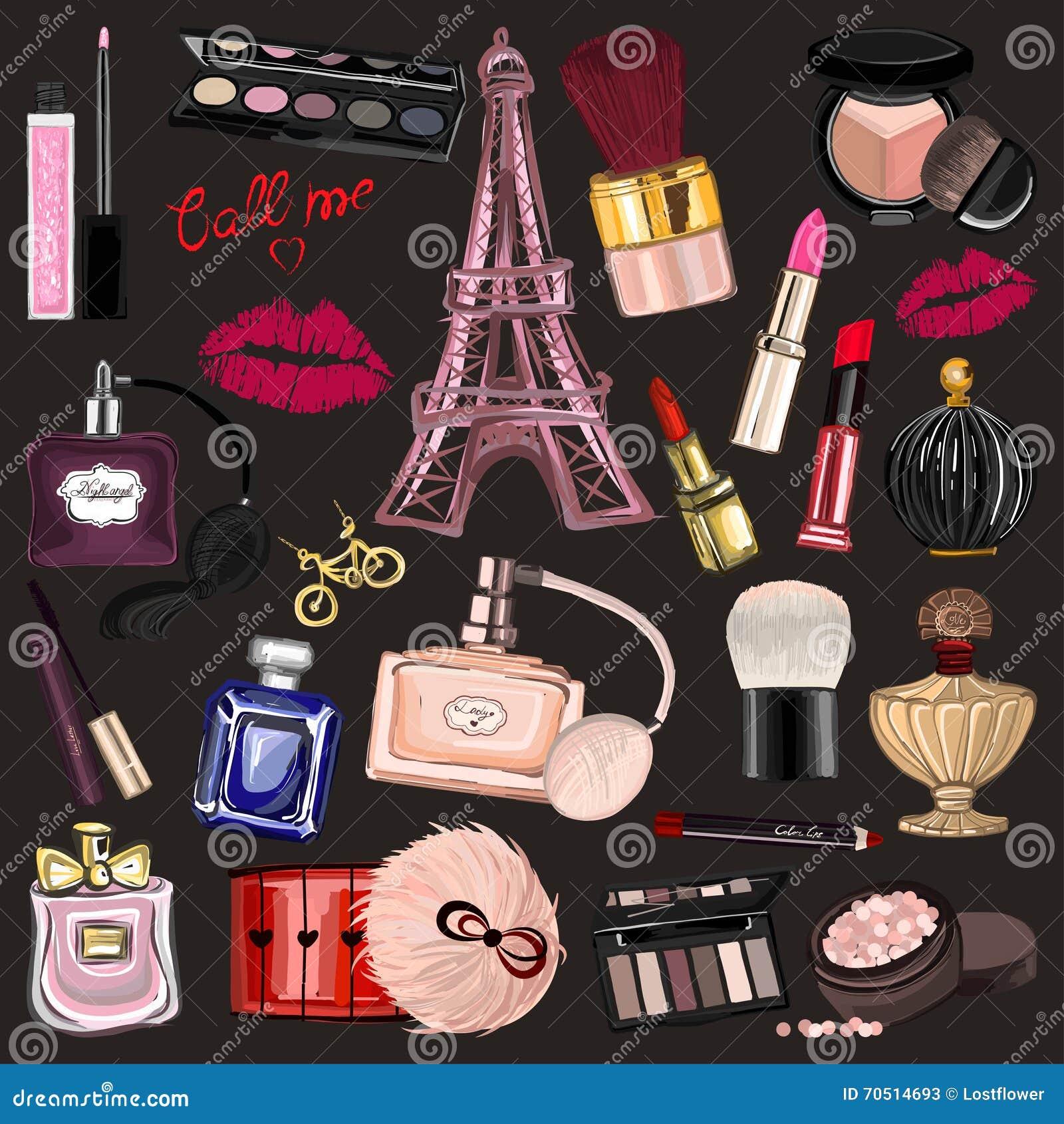 Cosmetici e profumo disegnati a mano di immagini for Immagini teschi disegnati