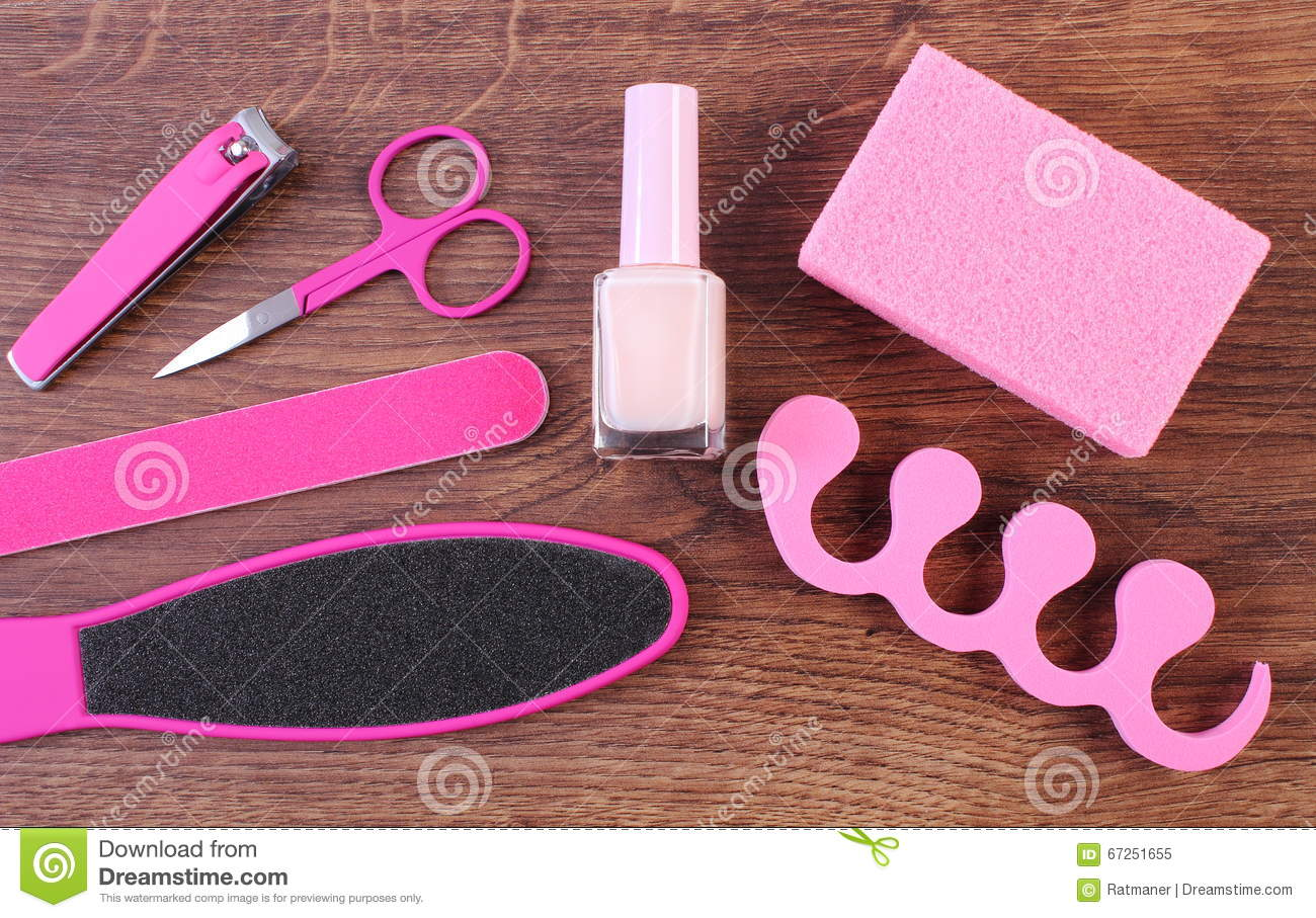 Cosmetics And Accessories For Manicure Or Pedicure ...