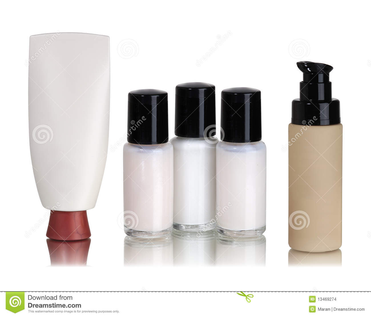 Cosmetics containers stock images - image: 13469274.