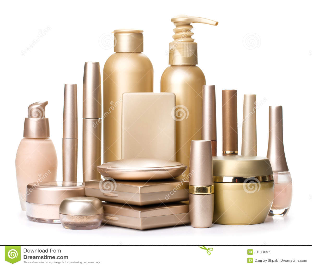 the cheapest shades of official Cosmetics Isolated On A White Background Stock Image - Image ...