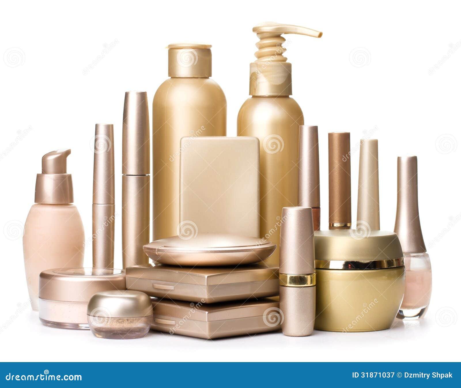 Cosmetics Isolated White