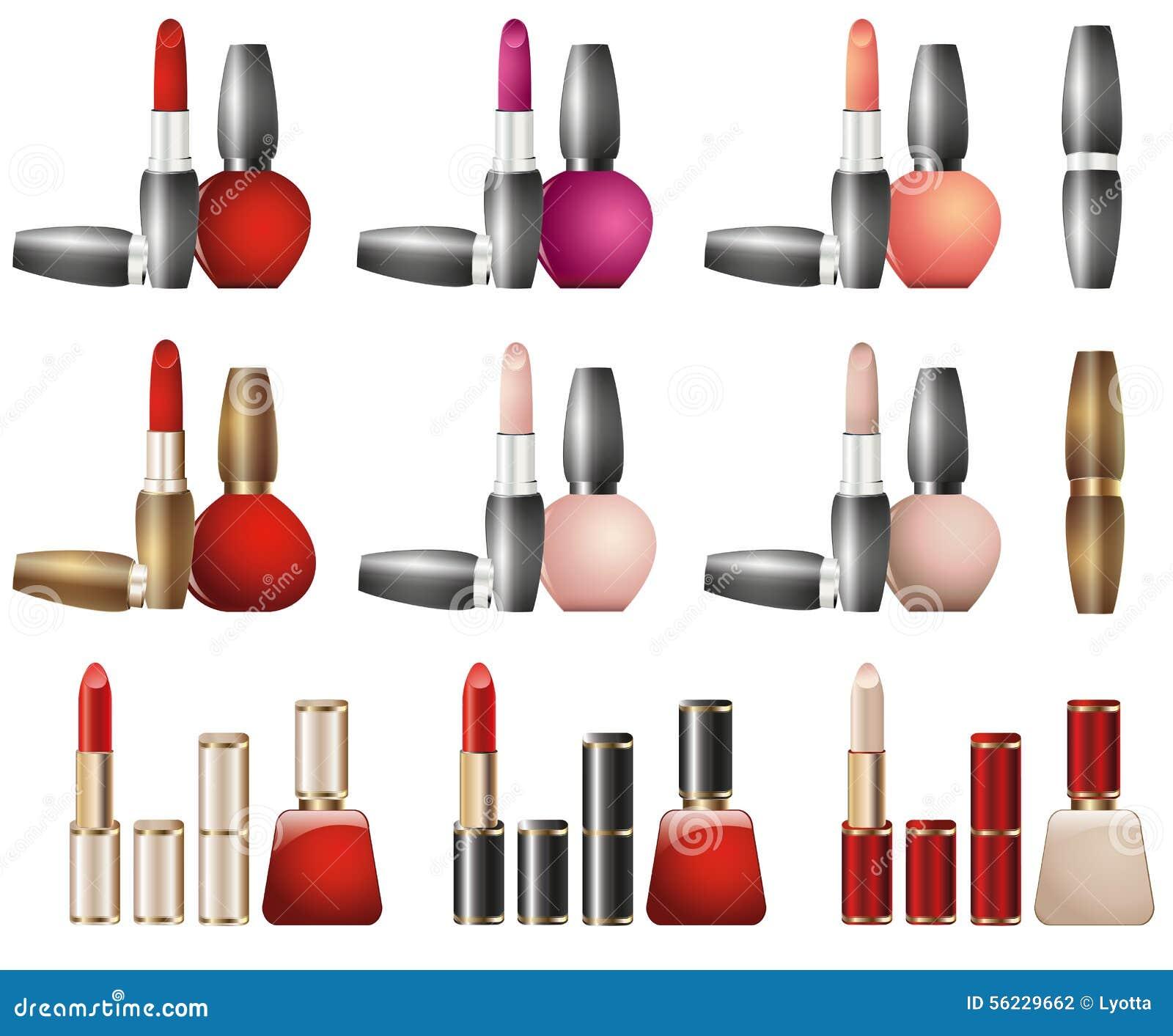 Cosmetics Lipstick Design Stock Vector