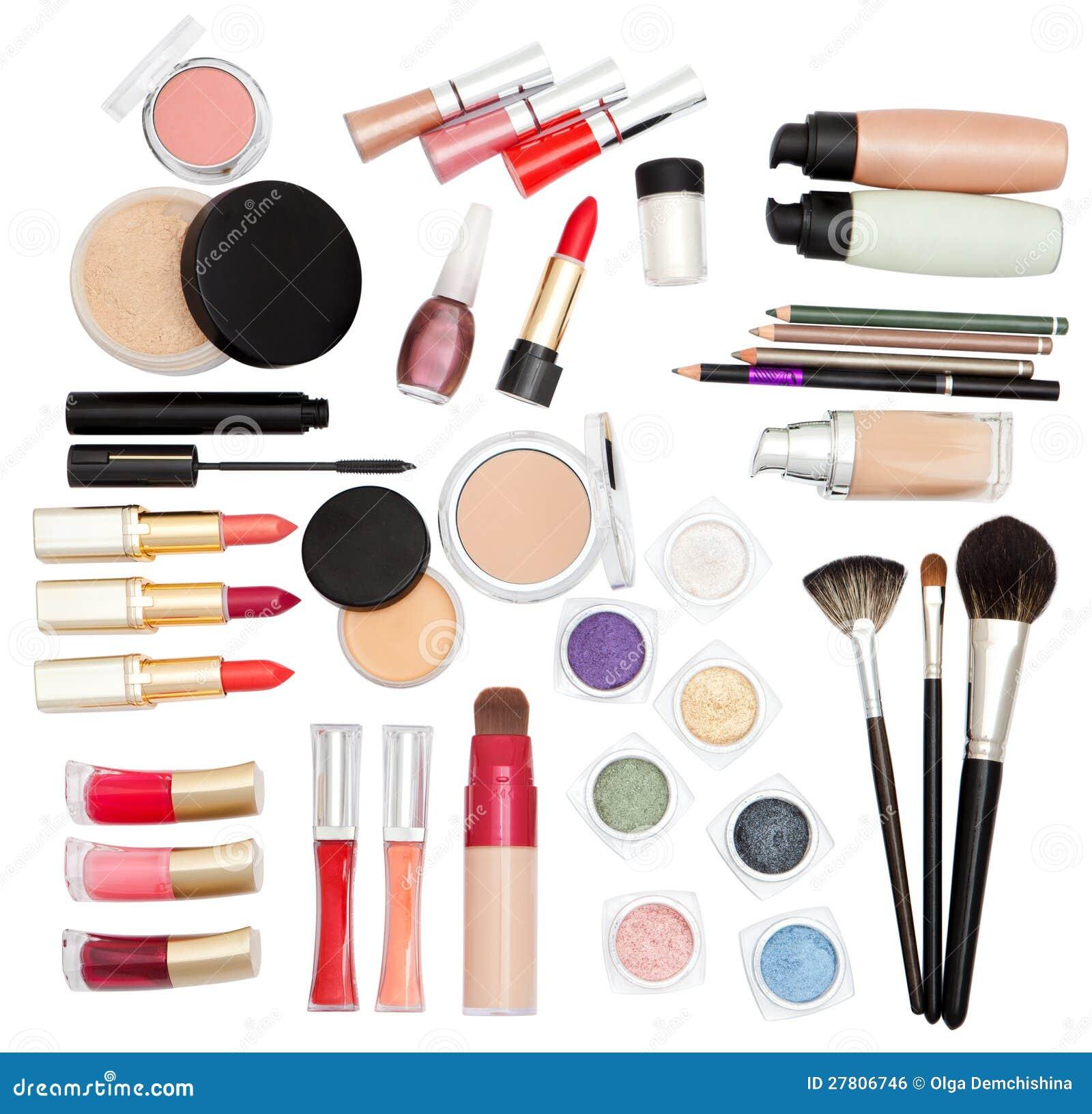 Cosmetics for makeup stock photo. Image of makeup, pencil ...
