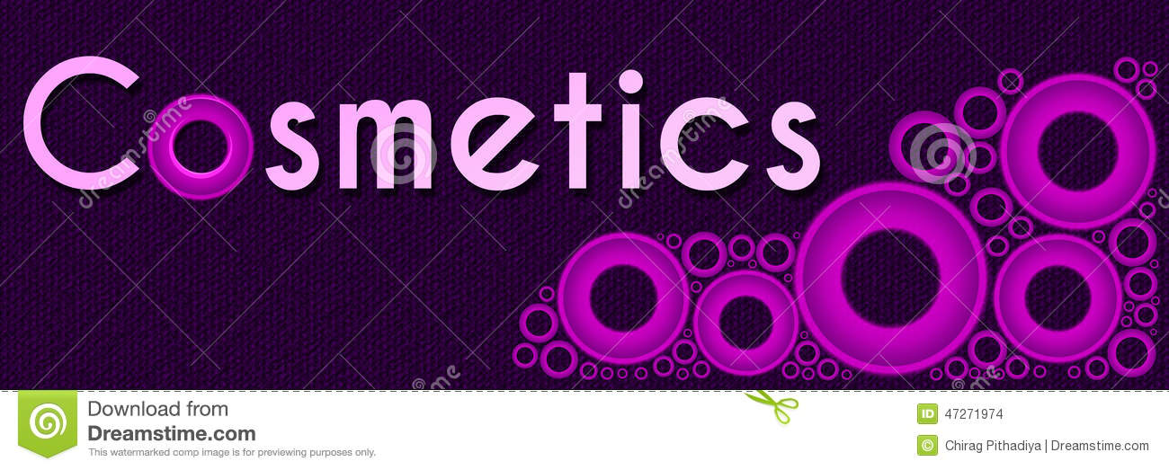 cosmetics pink rings banner stock illustration image