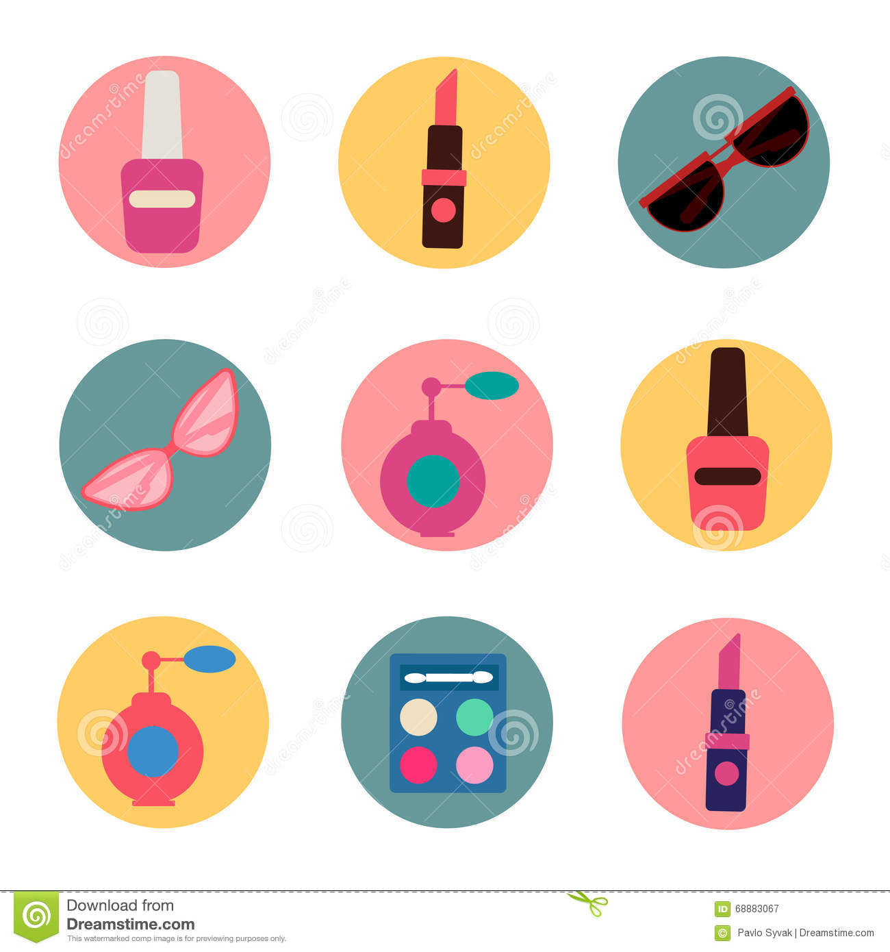 Fashion Beauty Vector Icons 4 Stock Photography 72644966