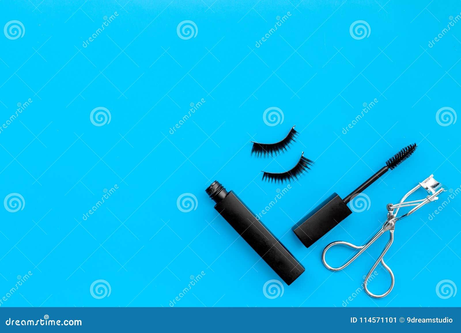 Cosmetics And Tools For Voluminous Lashes Mascara False Eyelashes