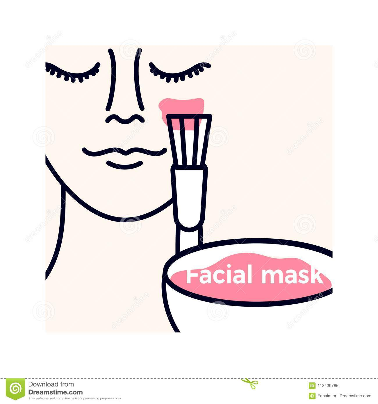 Cosmetology Symbol For Beauty Vector Template Stock Vector