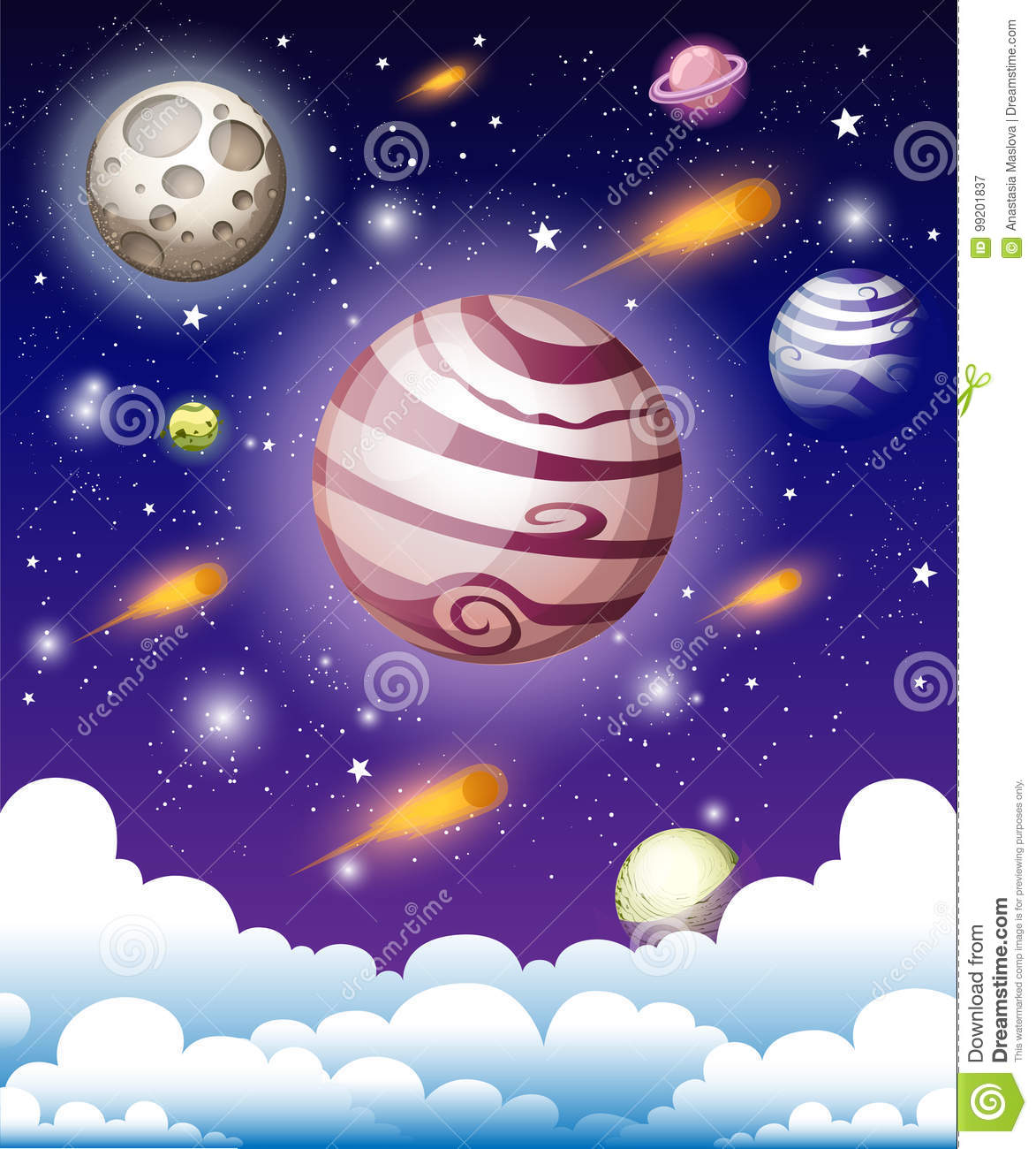 Cosmic Galaxy Background with nebula, stardust and bright shining stars. Vector illustration for your design, artworks space Web s