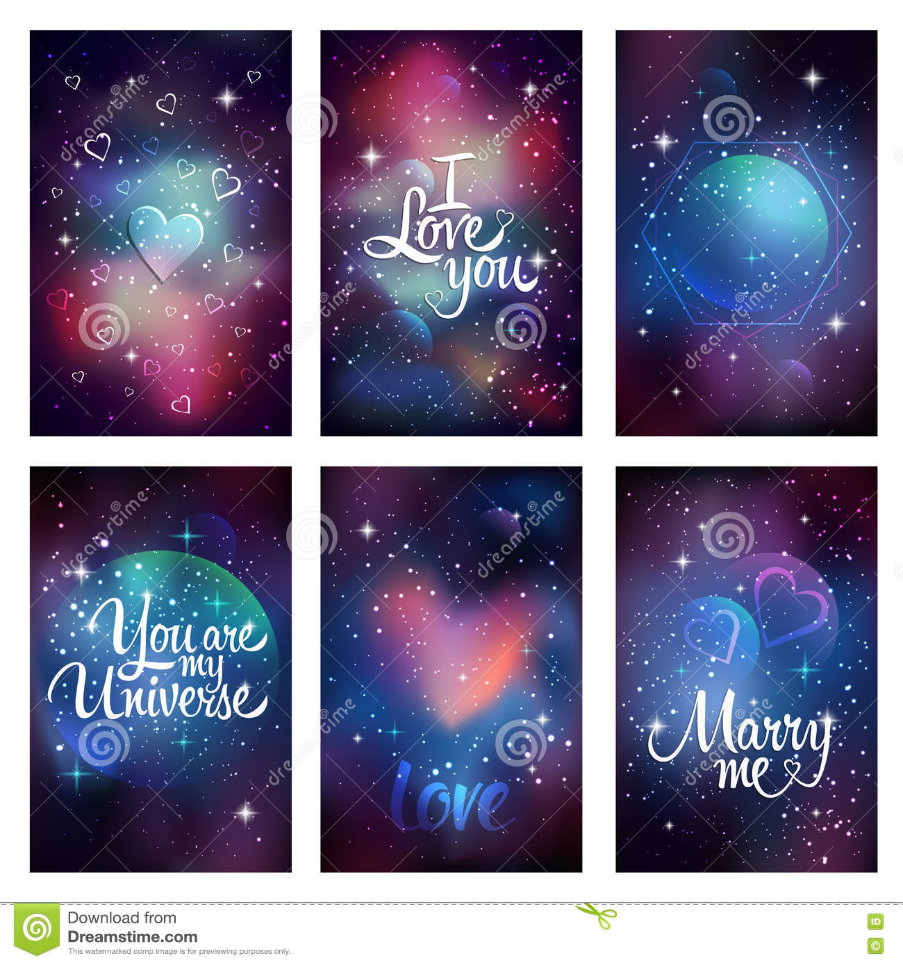 Cosmic Greeting Card Stock Vector Illustration Of Greeting 76711616