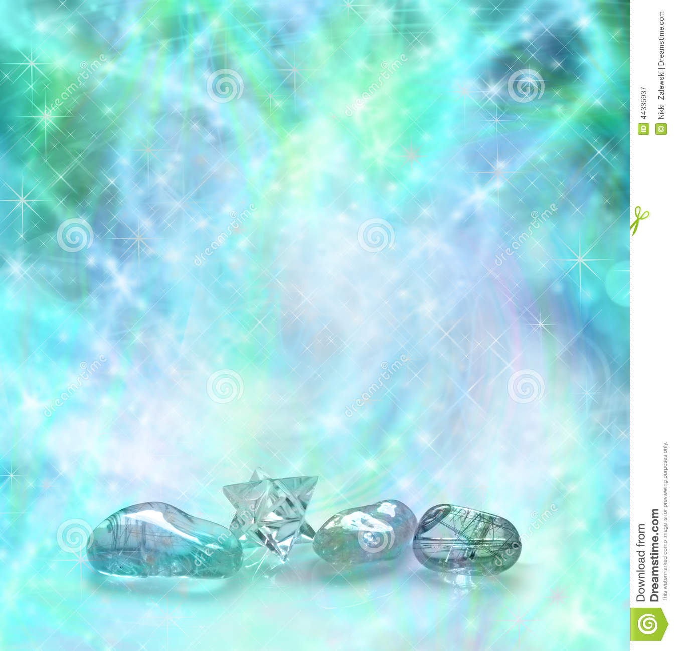 Cosmic Healing Crystals Stock Image Image Of Blue