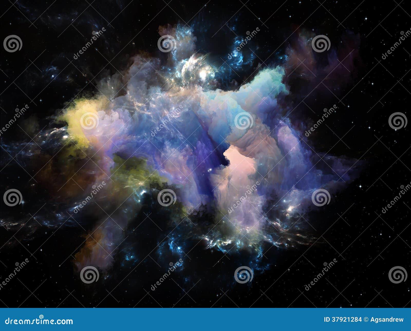 Cosmic Fantasy Fractal Blacklight: Cosmic Nebula Stock Images