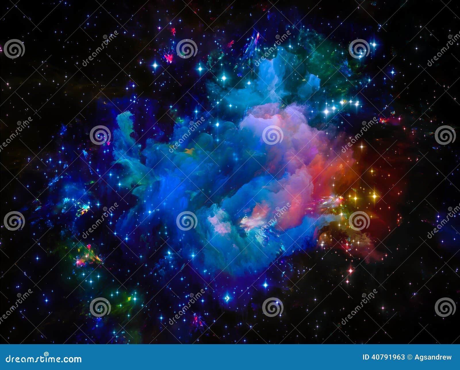 Cosmic Fantasy Fractal Blacklight: Cosmic Nebula Stock Photo