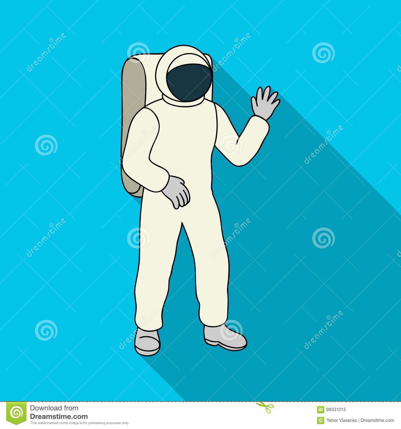Cosmic Space Suit. Space Technology Single Icon In Flat