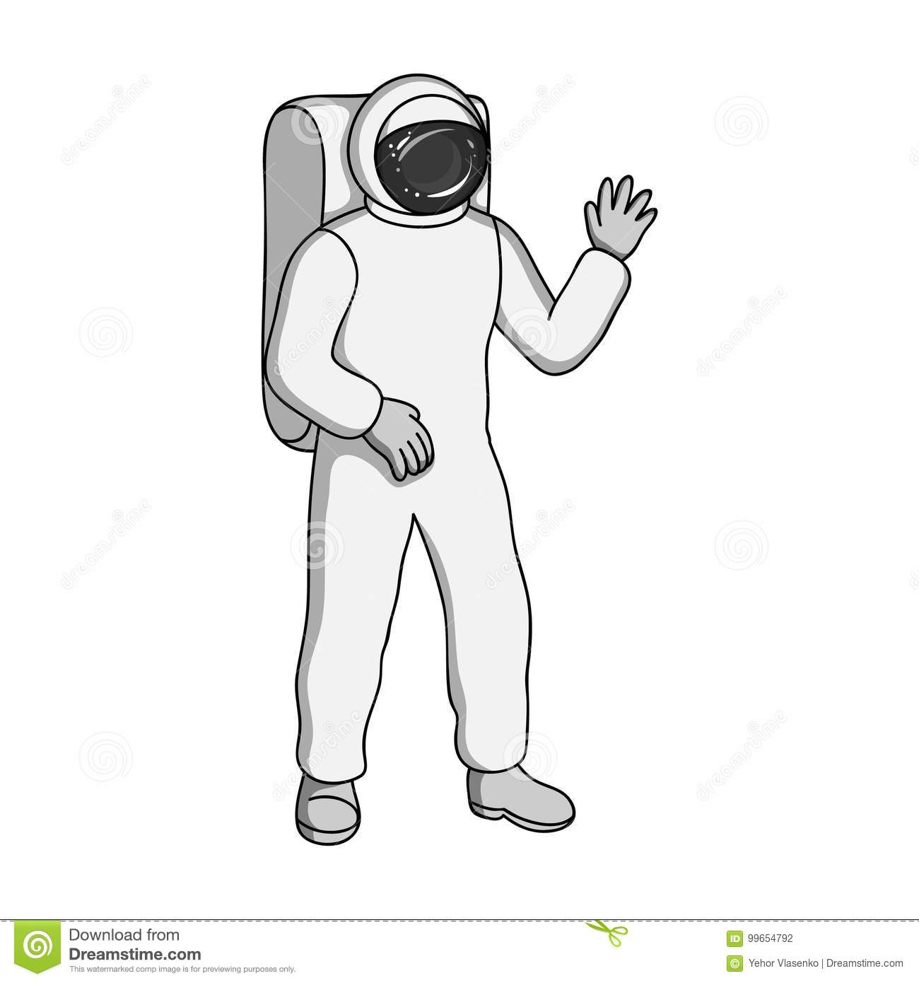 Cosmic Space Suit. Space Technology Single Icon In