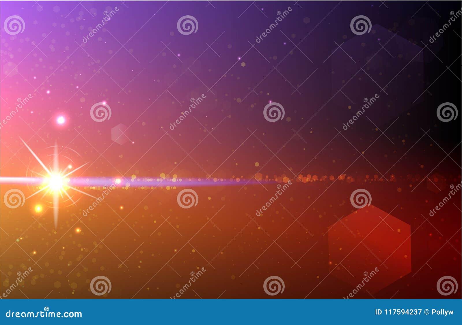 Cosmos big bang realistic vector illustration