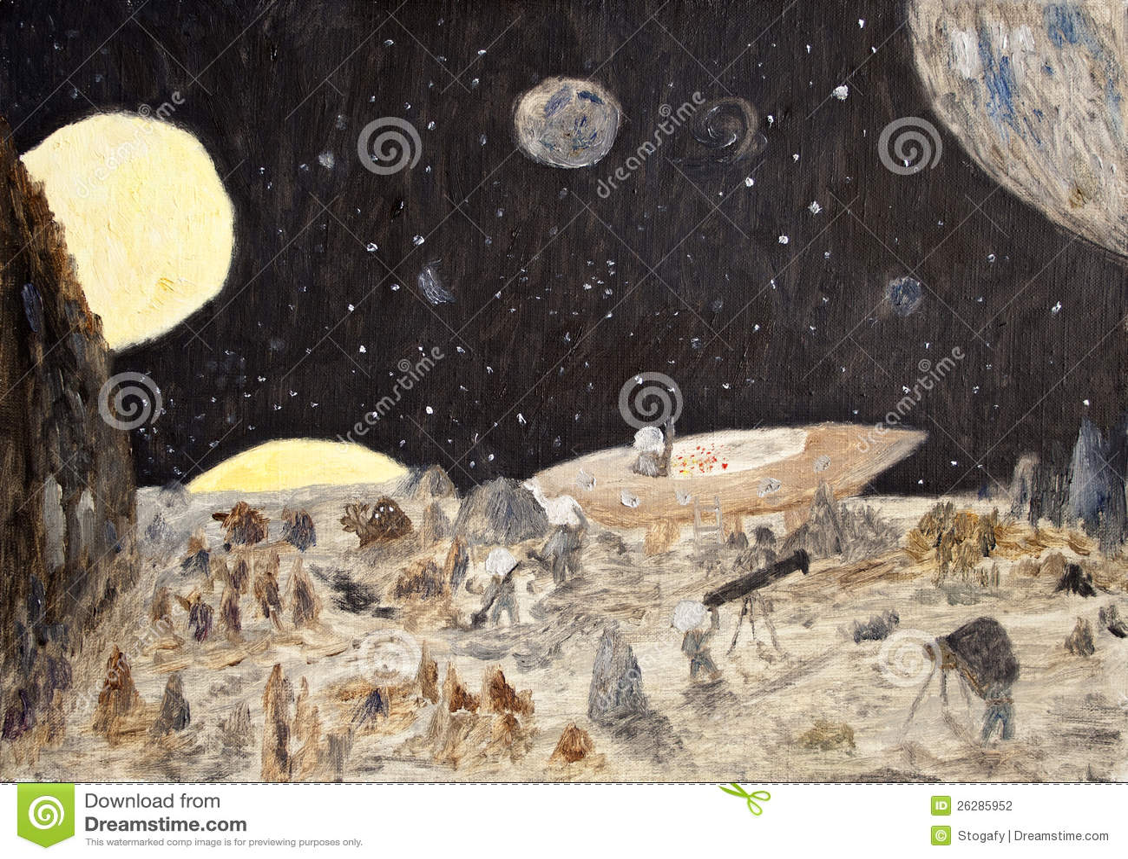 Cosmos fantasy oil painting