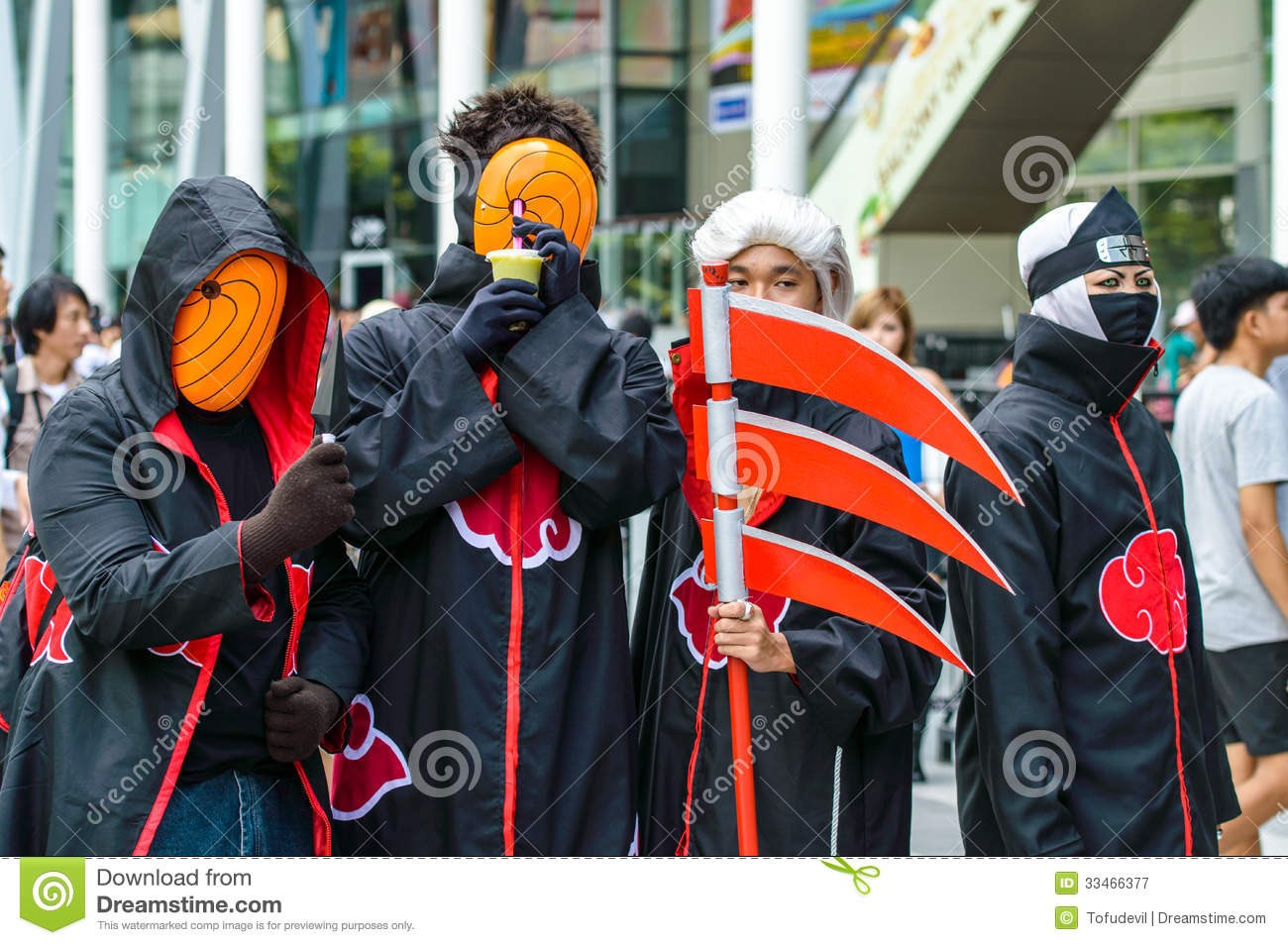 Cosplayer As Characters Akatsuki From Naruto In Japan