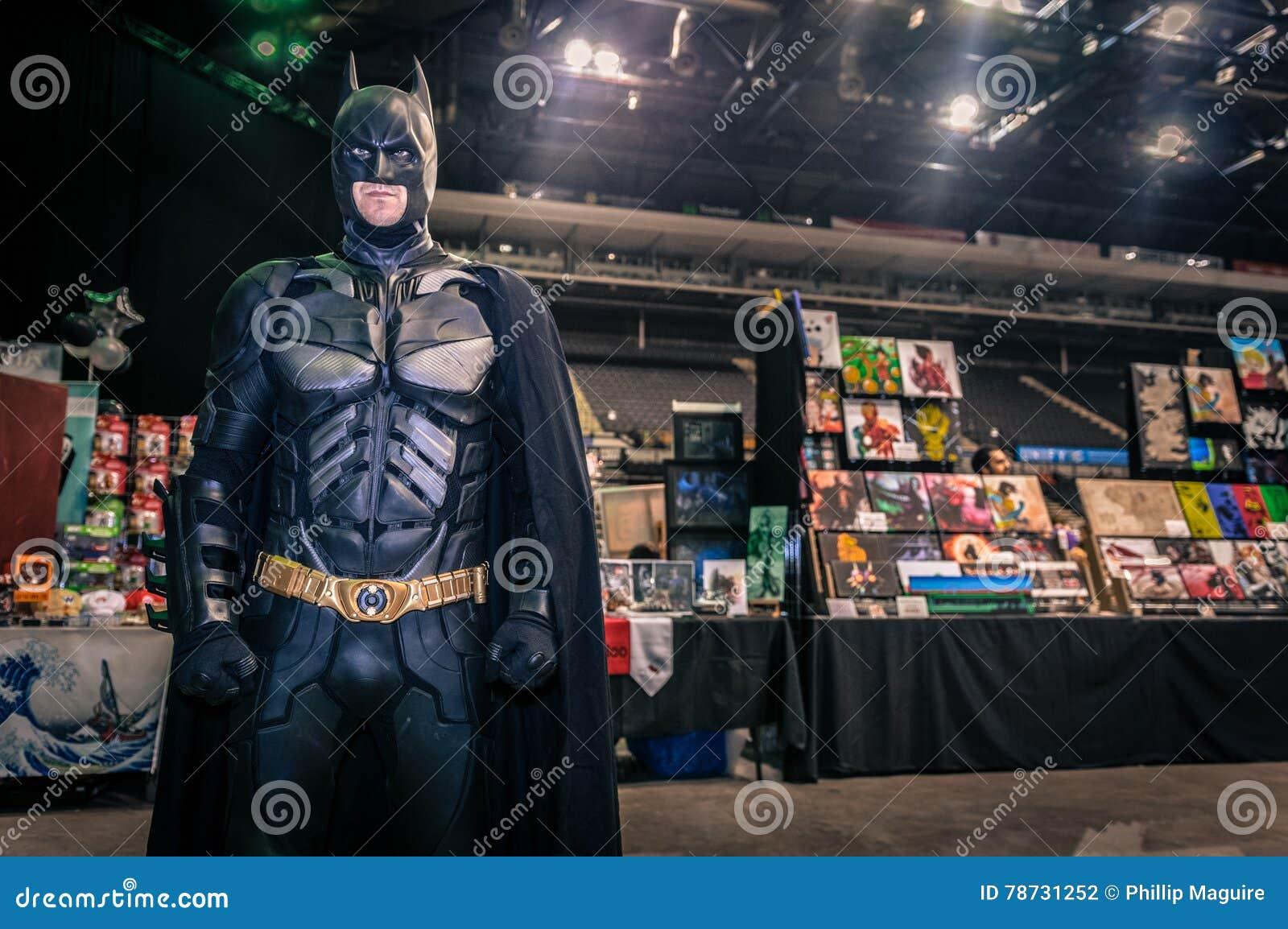 Cosplayer klädde som  Batman ,