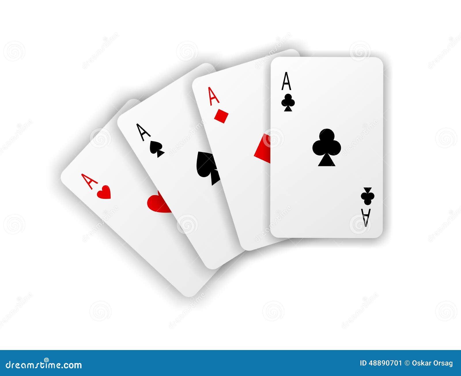 cosses royales d 39 instantan de casino de cartes de jeu quatre as sur le fond blanc illustration. Black Bedroom Furniture Sets. Home Design Ideas