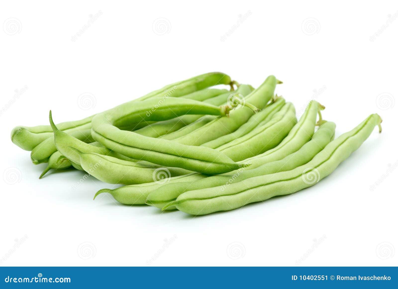 Cosses vertes de pile d haricot petites