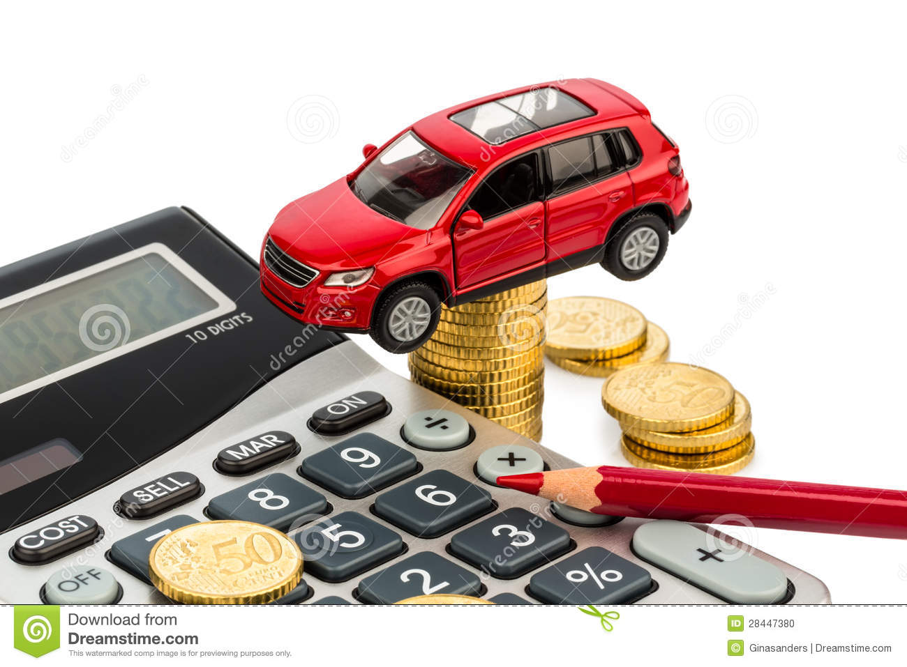 Cost of car. with calculator