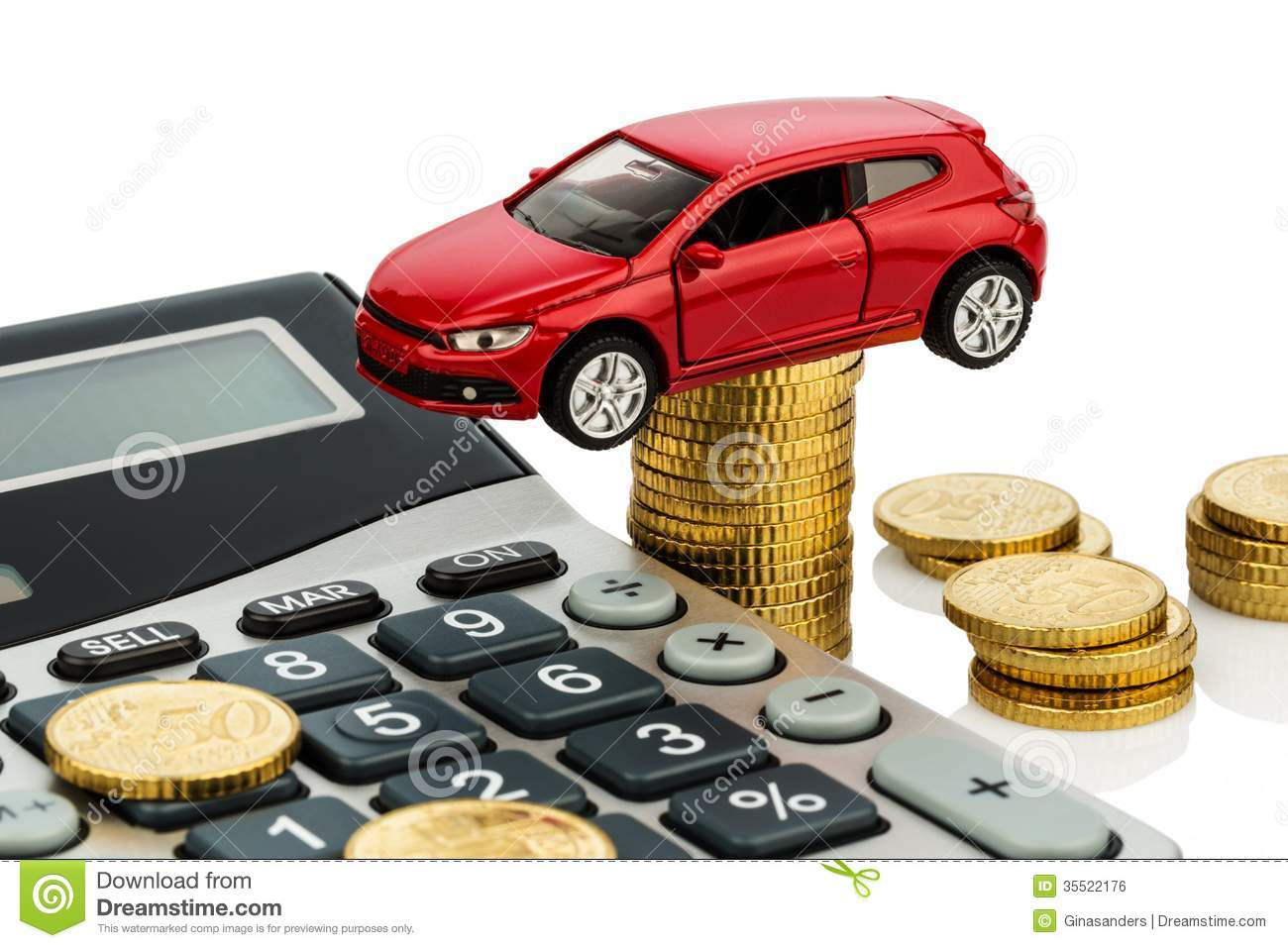 Cost of the car. with calculator