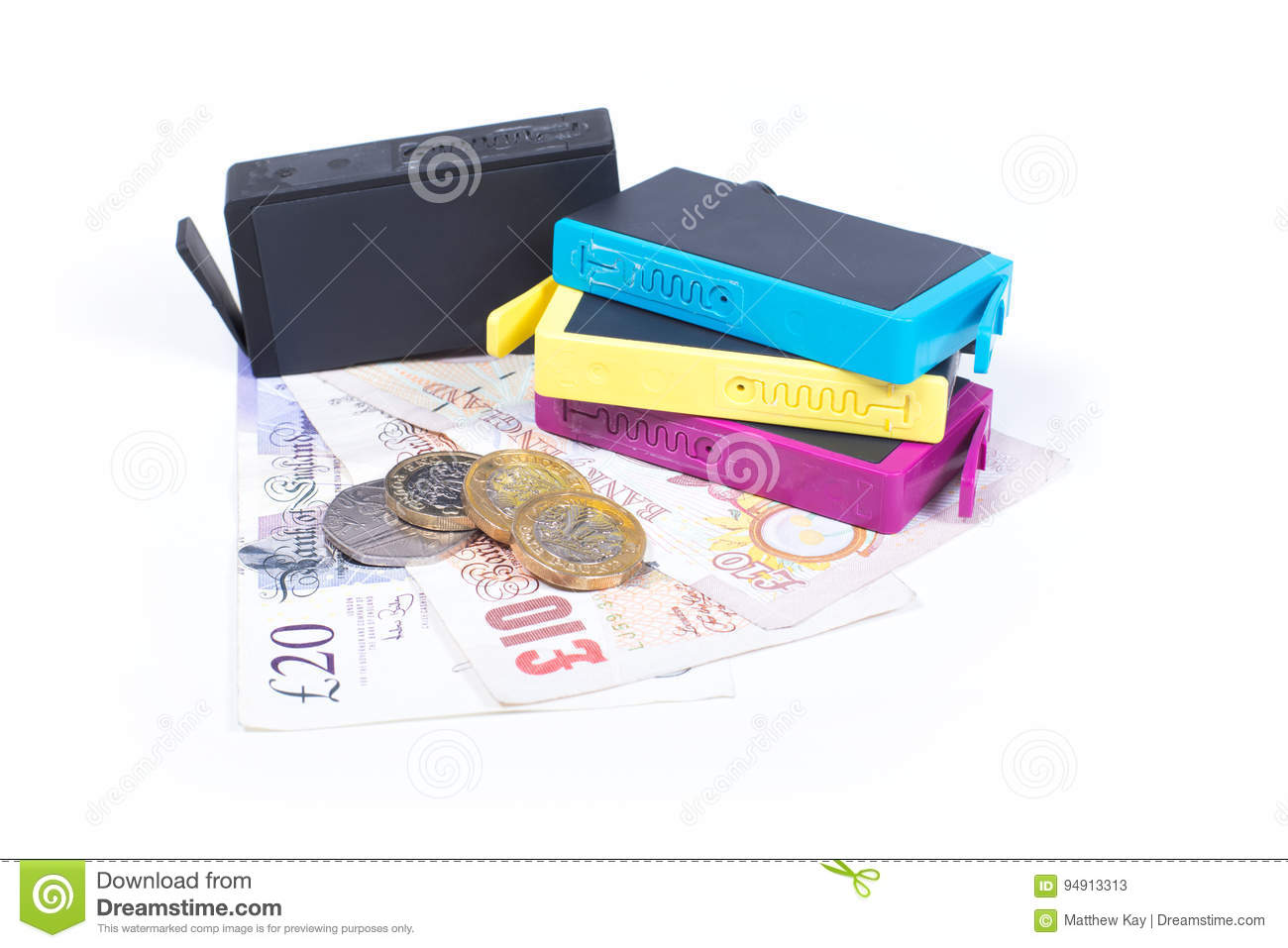 Cost Of Consumables For Ink Jet Printer Stock Image Image Of Cash