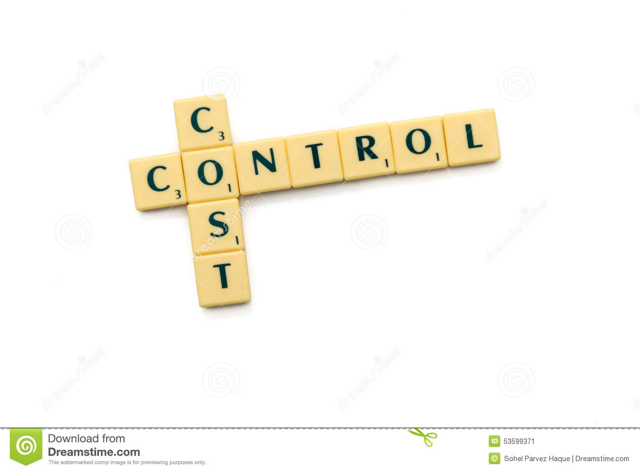 Stock Image: Cost control. Image: 53599371