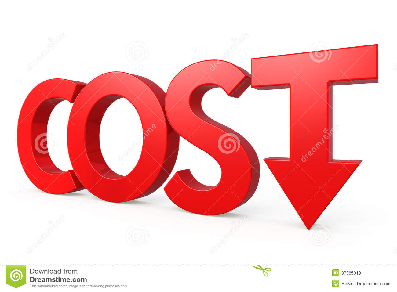 Cost down concept stock illustration. Illustration of down - 37965019